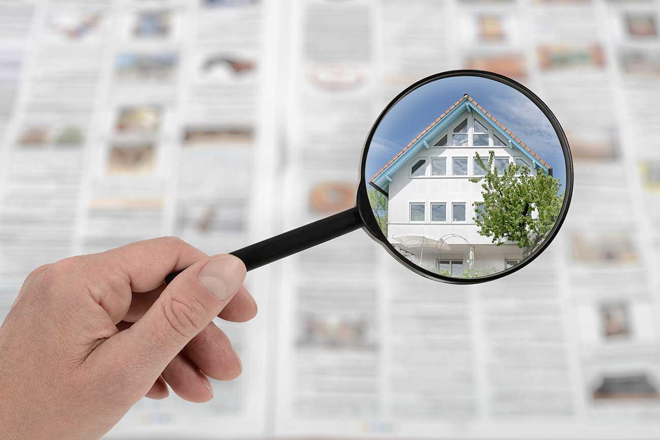 Immobilien-Anzeige
